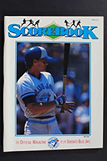 1988 SCOREBOOK, THE OFFICIAL MAGAZINE OF THE TORONTO BLUE JAYS PROGRAM