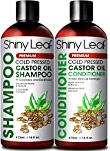 Castor Oil Shampoo and Conditioner For Hair Growth, With Organic Castor Oil, Sulfate Free, Cleanses & Destresses Hair, Safe for Color Treated Hair, Repair Hair Damage 16 Fl. Oz.