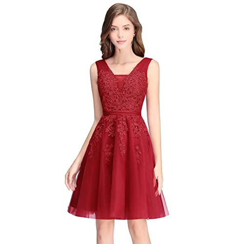 Flourescent Red Pageant Dress