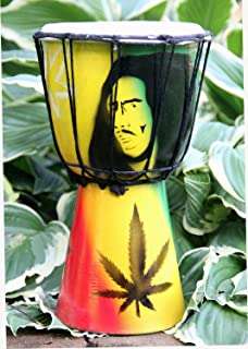 """Djembe Drum Congo Bongo African Bob Marley Percussion Drum- Professional Sound, LARGE 11"""" X 6"""""""