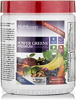 Power Greens Premium - Berry - 21 Servings by NuMedica