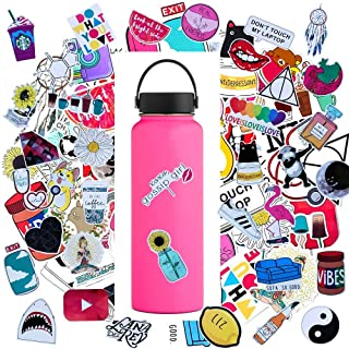 Water Bottle Sticker Decals Waterproof 45pcs,Cute Bumper and Laptop Stickers for Girls,Computer,Car,Skateboard, Luggage,Snowboard[Not Random]