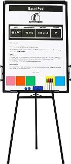 Chevalet de Conférence / Paperboard Set – 100x70cm Tableau Blanc Magnetique Effaçable sur Pied avec 1 Effaceur, 4 Feutres,...
