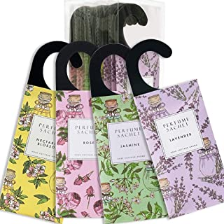 كيس ورد كوتج 12 عبوة من أكياس ورق ورد معلّقة برائحة الزهور معطر هواء طبيعي للخزانة ومزيلة للروائح الكريهة