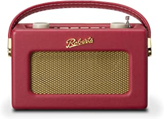 Roberts Revival Uno Retro Portable/Compact DAB/DAB+/FM Digital Radio with Alarm Clock Radio, Berry Red