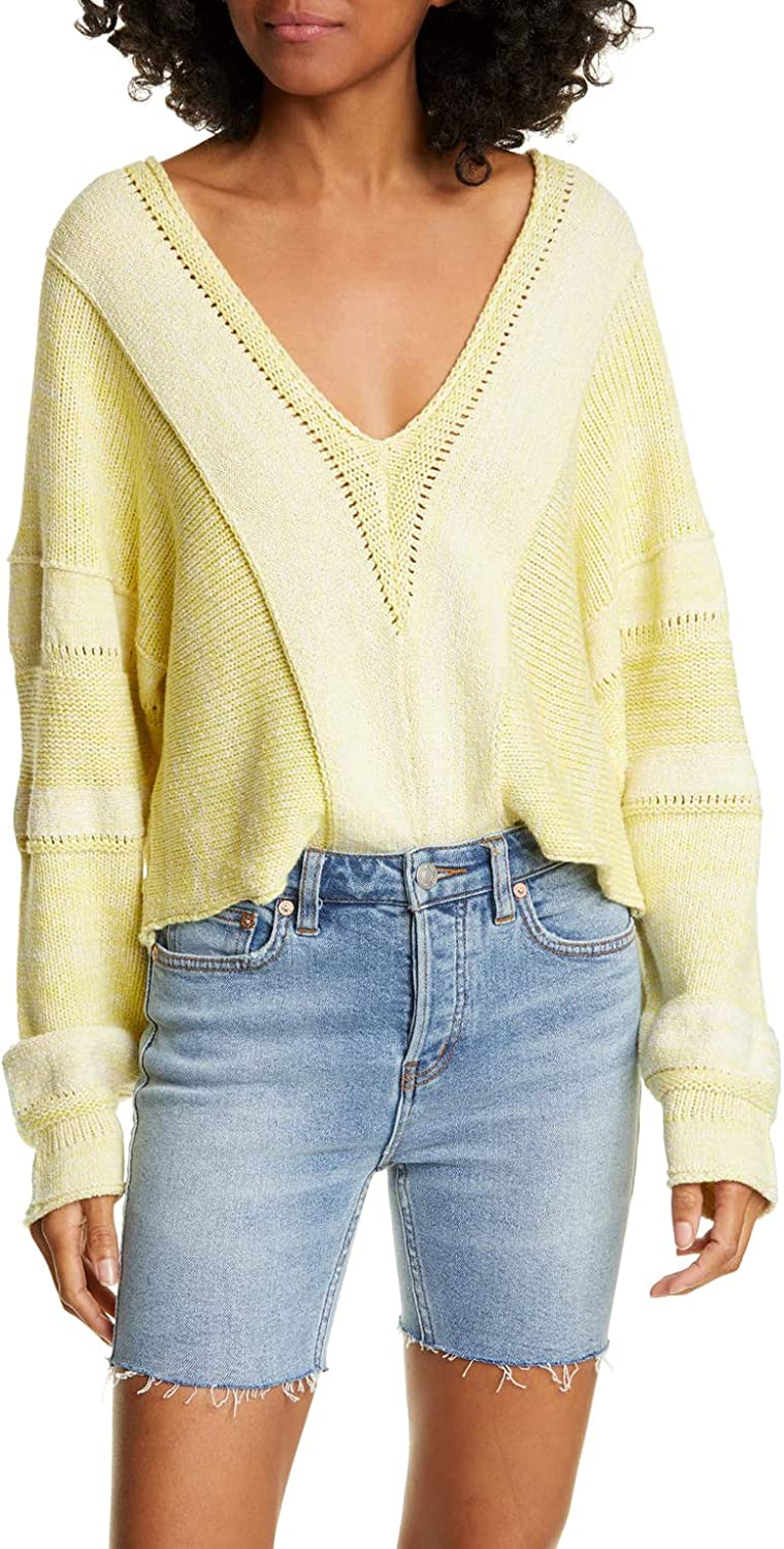 Free People Lemonade 低廉 Stand Sweater ついに再販開始 Cropped Mixed-Knit