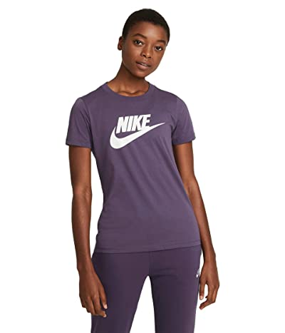 Nike Sportswear Tee Essential Icon Futura (Dark Raisin/White) Women