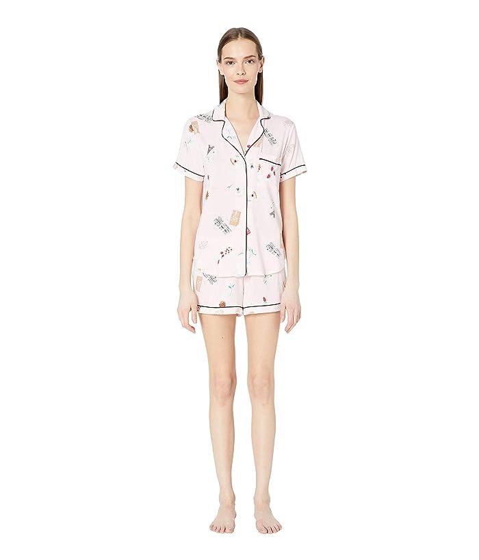 Kate Spade New York Jersey Knit Short Pajama Set (Parisian Breakfast) Women