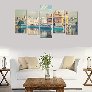Golden Temple In Amritsar Punjab India (no Frame)canvas Print Sets Wall Art Picture 5 Pieces Paintings Posters Prints Photo Image On Canvas Ready To Hang For Living Room Bedroom Home Office Wall Decor