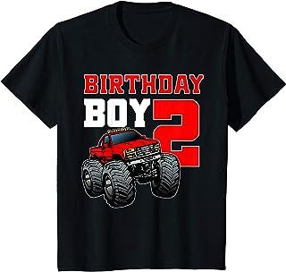 Enfant Boys 2nd Birthday Monster Truck Birthday Shirt 2 year Old T-Shirt