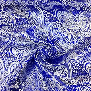 Best blue brocade fabric Reviews
