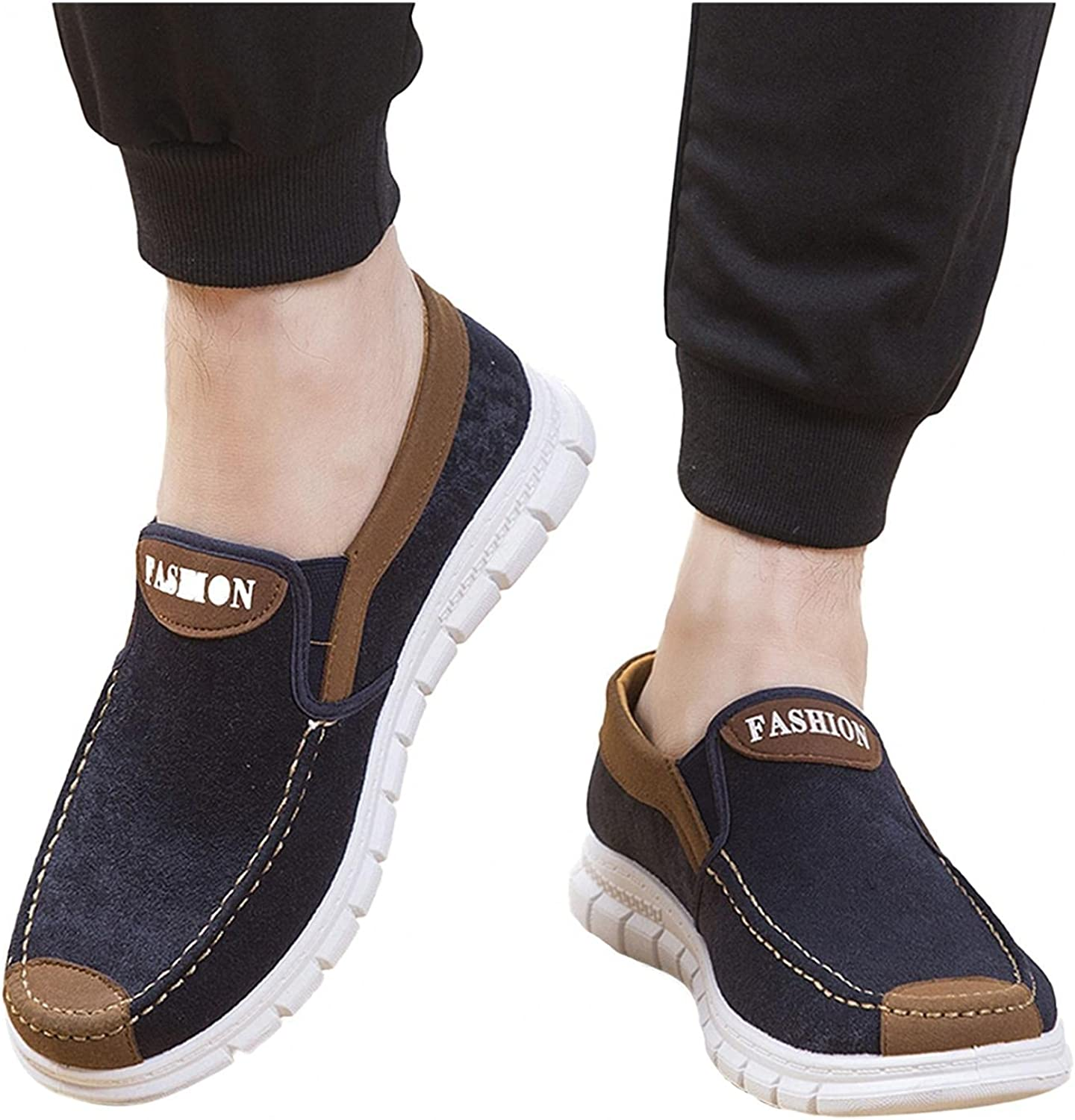 Hbeylia Men's Slip On Loafers Walking Shoes Fashion Casual Classic Driving Shoes Breathable Comfort Flats Sneakers Boat Shoes For Men Males Business Office Work Sports