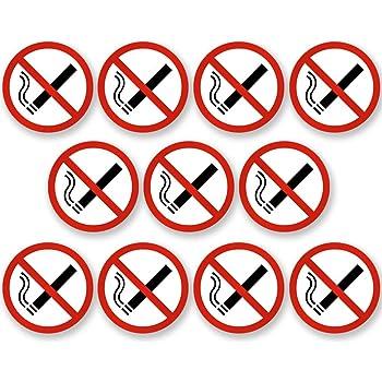 Aufkleber Rauchen verboten /Ø 14cm Rauchverbot Nichtraucher Piktogramm UV-Schutz Aussenklebend f/ür B/üro Gastst/ätte Garage etc Outdoor geeignet Werkstatt