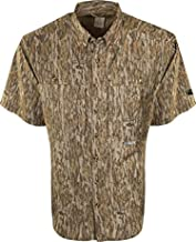 Drake Men's Two-Tone Camo Flyweight Wingshooter's Shirt Short Sleeve Polyester