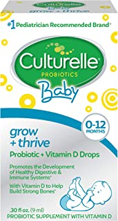 Culturelle Baby Grow + Thrive Probiotics + Vitamin D Drops - 400 IU - Helps Promote a Healthy Immune System & Develop a He...