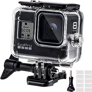 REDTRON Funda Impermeable para GoPro Hero 8 Black 60M Funda Protectora de Buceo con Pinza de Montaje rápido la 12 Insertos antivaho para cámara Gopro Hero 8 Black Action 2019