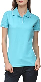 Scott International Women's 100% Pure Organic Cotton Polo T-Shirt