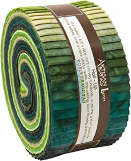 green batik jelly roll