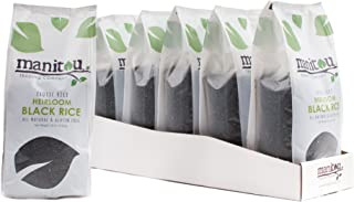 Heirloom Black Rice by Manitou Trading Company Heirloom , 18-Ounce, 6 Pack Sleeve