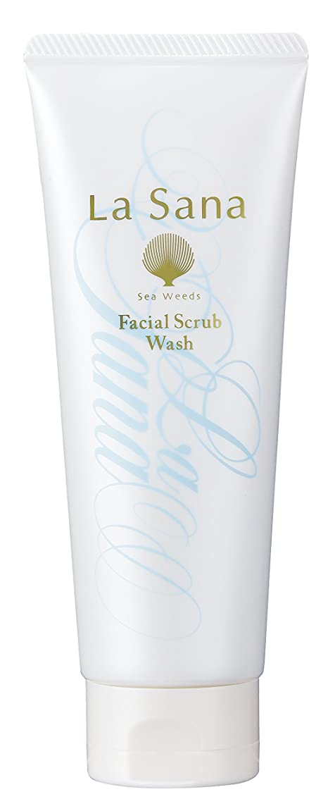 たらい避難排気ラサーナ La sana 海藻 海泥 スクラブ 洗顔料 115g (グリーンフローラルの香り) 保湿成分配合