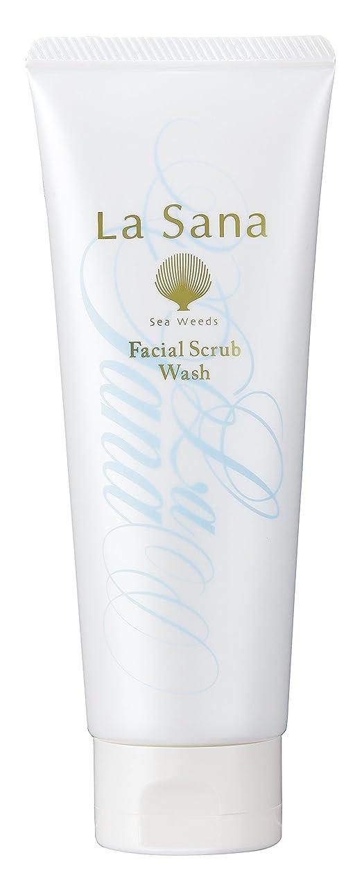 息苦しい神経名前を作るラサーナ La sana 海藻 海泥 スクラブ 洗顔料 115g (グリーンフローラルの香り) 保湿成分配合