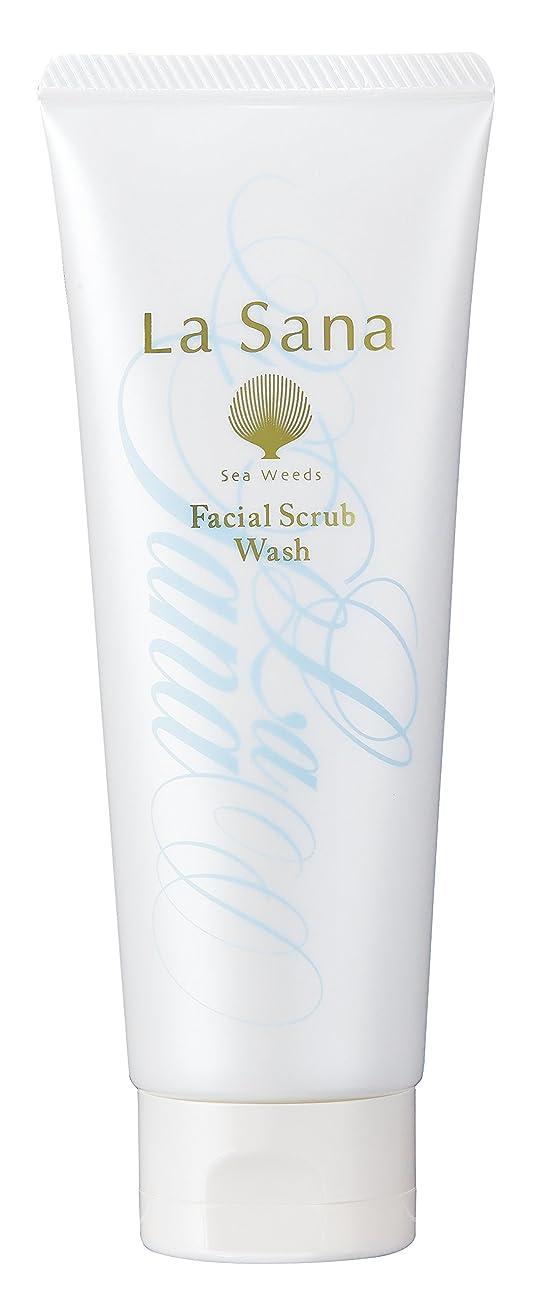 メロドラマイベントバーターラサーナ La sana 海藻 海泥 スクラブ 洗顔料 115g (グリーンフローラルの香り) 保湿成分配合