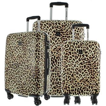 sumicorp.com ABS Kofferset 3tlg Leopard Reisetasche Reise Koffer ...