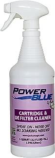 Power Blue Instant Spray Cartridge & DE Filter Cleaner, 32 oz.