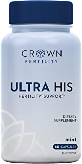 Crown Fertility Ultra HIS. Enhanced Male Fertility Supplement to Increase Conception by Helping Aid Sperm Count and Quality for Fertility Support - 60 Capsules (30-Day Supply) - Packaging May Vary