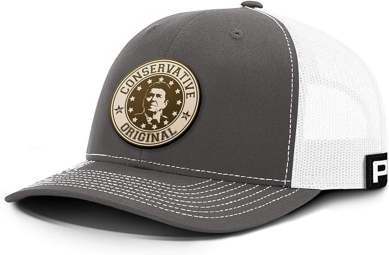 Printed Kicks Conservative Original Ronald Raegan Back Mesh Hat Leather Patch Baseball Cap