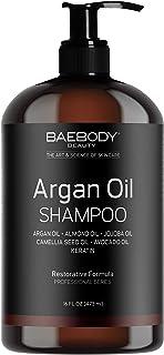 Baebody Moroccan Argan Oil Shampoo with Keratin, 16 Ounces