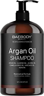 Baebody Moroccan Argan Oil Shampoo with Keratin, 16 Ounces