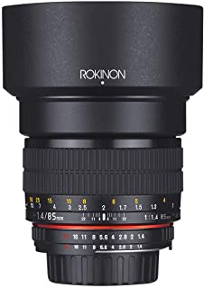 Rokinon AE85M C 85 mm F1.4 asphärisches Objektiv mit eingebautem AE Chip für Canon DSLR Kameras (schwarz)