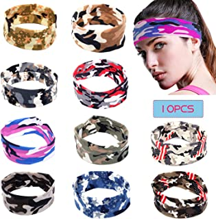 Sports Headband Unisex Fitness Headbands Head Wrap for Women & Men NO Slip Head Band Sweatband for Running, Yoga, Workout Gym
