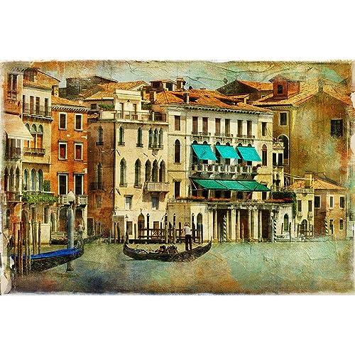 Pitaara Box Romantic Venice D5 Canvas Painting Mdf Frame 21.1 X 14Inch