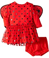 Stella McCartney Kids - Mouse Polka Dot Detachable Wings One-Piece (Infant)