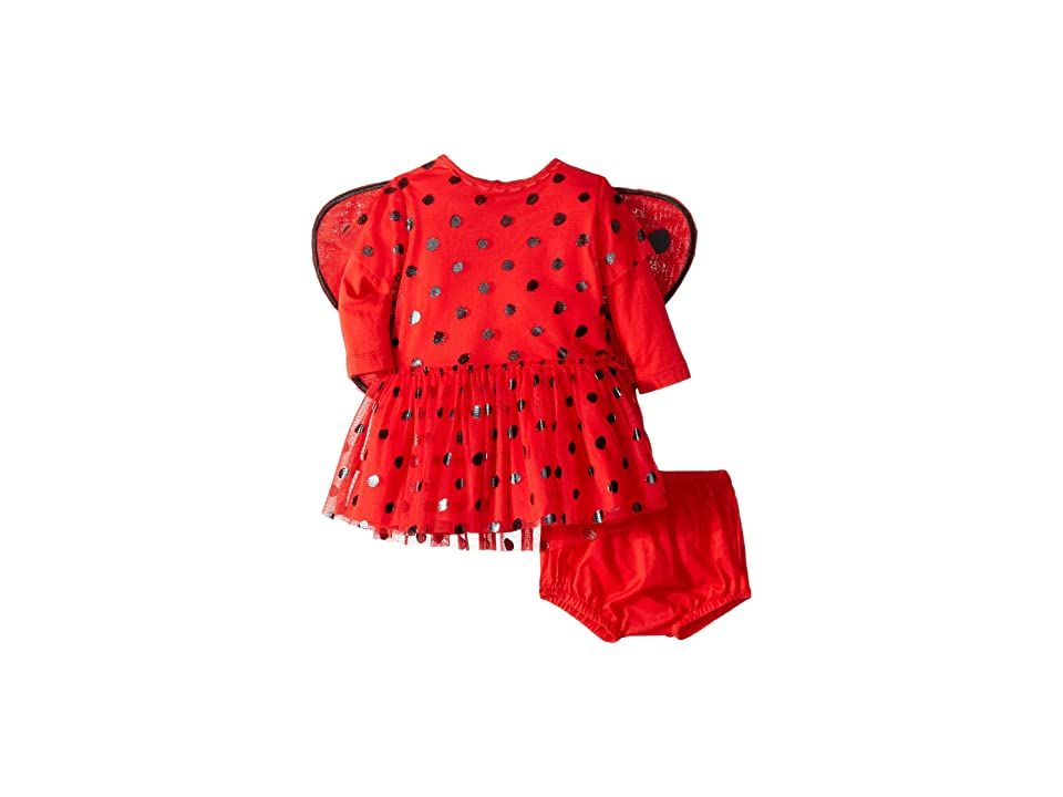 Stella McCartney Kids Mouse Polka Dot Detachable Wings One-Piece (Infant) (Red) Kid