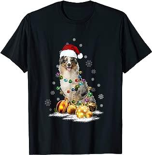 Australian Shepherd Christmas Dog Light T-Shirt