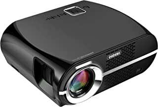 Projector, Ohderii Efficiency Multimedia Home Theater Projectors 1280 800 Native Resolution Support 1080P HD-Ideal for Outdoor Indoor Movie or Video Games (Black)
