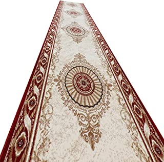 YANZHEN Hallway Runner Rugs Corridor Carpet Non-Slip Moisture Proof 1.2cm Thick Cutable Soft Blended Fabric 2 Styles, 15 S...