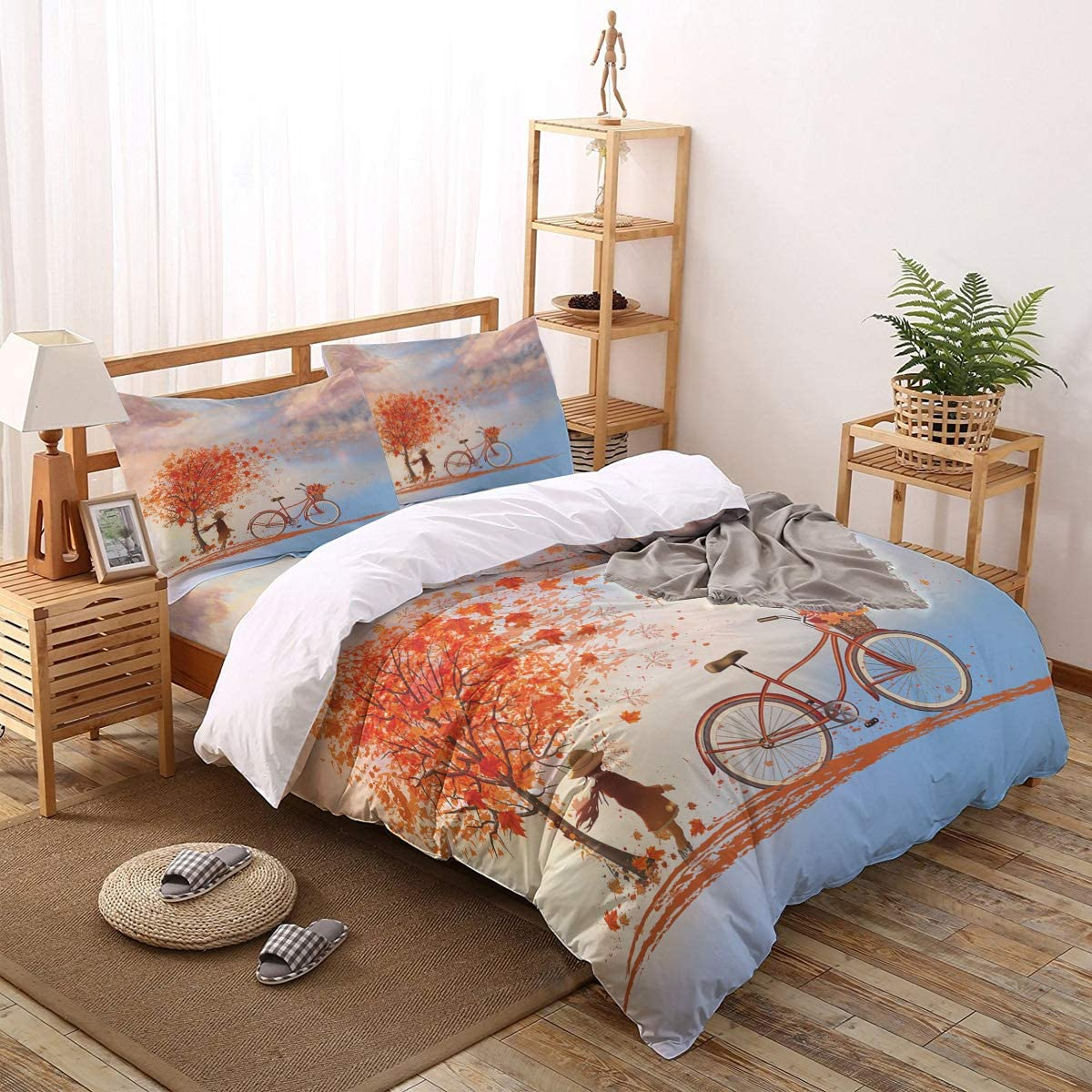 Greeeen 4 Pieces Duvet Cover + Flat Bedding Set- 1 Popular overseas Recommended