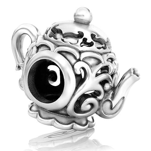 925 Sterling Silver Cute Spirit Ghost Halloween Bead for European Charm Bracelet