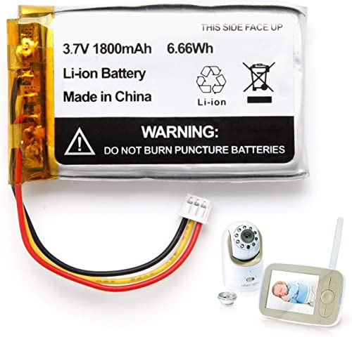 1800mAh Replacement Battery for Infant Optics DXR-8 Video Baby Monitors (1 Pack) product image