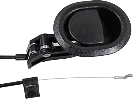 Reliable Recliner Replacement Parts - Complete Universal Small Oval Black Plastic Pull Recliner Handle 3 by 3.5 with Cable and S / Z Hook ★ Exposed Cable Length (4.75) ★ Total Length is Medium at 36 fits Ashley and Major Recliner Brands Couch Style Pull C