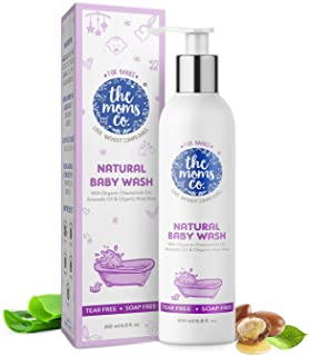 The Moms Co. Tear-Free Natural Baby Wash with Calendula, Avocado Oils and USDA-Certified Organic Oils Like Argan, Chamomil...
