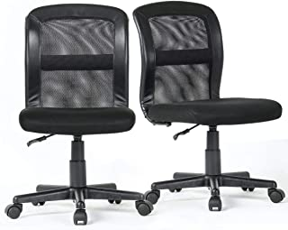 2 Packs B2C2B Conference Room Chairs, Mesh Task Office Chair Mid Back for Home Office,Meeting Room Black