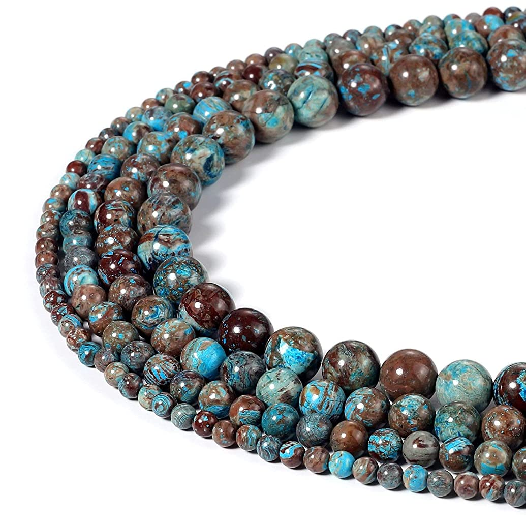 4mm Blue Crazy Lace Agate Beads Semi Precious Gemstone Round Loose Stone Beads for Jewelry Making (95-100pcs)