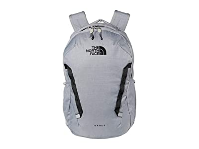 The North Face Vault Backpack (Mid Grey Dark Heather/TNF Black) Backpack Bags