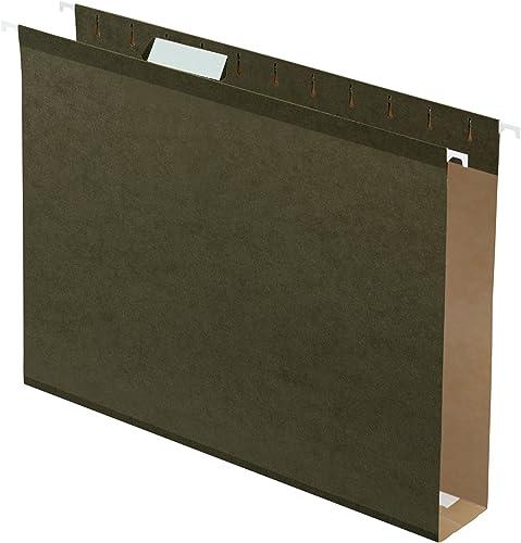 todos los bienes son especiales Reinforced 2  Extra Capacity Hanging Folders, Folders, Folders, Letter, Stnd Grn, 25 Box  mas barato