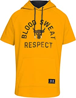 Men's Project Rock Short Sleeve Hoodie Respect Sweatshirt